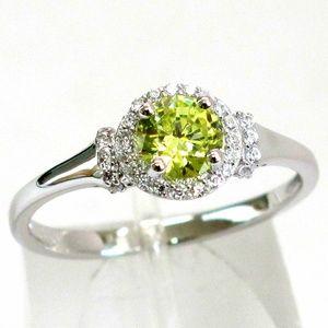 925 Sterling Silver Peridot Birthstone Ring